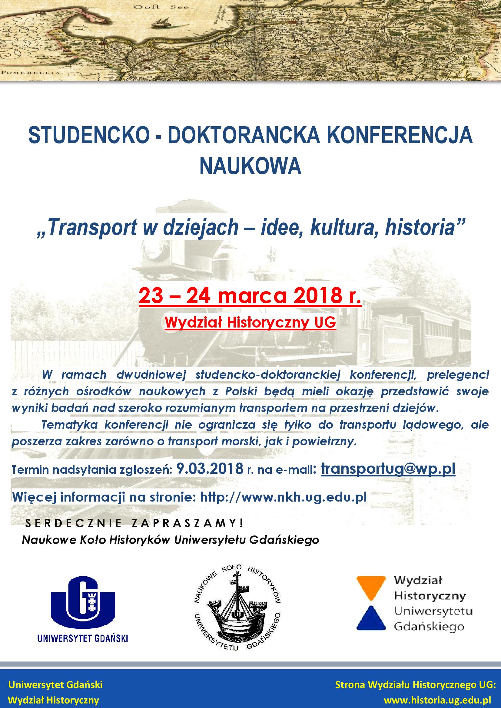 Konferencja Transport W Dziejach Idee Kultura Historia